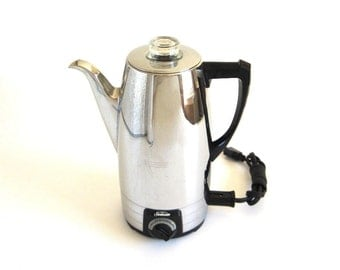 Sunbeam Percolator AP8A Electric Coffee Pot Vintage Chrome Coffeemaster