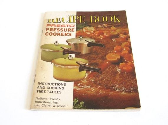 Presto Pressure Cooker Booklet Instruction Manual Recipe Book 1960 1970s PCC4 PCC6 PCC4A PCC4H PCD4 PCD4A PCD4H PCD6 PCD6A PCD6H PCC6A PCC6H