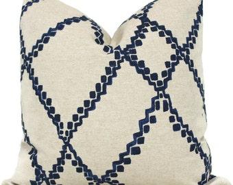 Indigo Blue Ikat Decorative Pillow Cover, 18x18, 20x20, 22x22 Eurosham or lumbar pillow Throw Pillow, Accent Cushion, Toss Pillow