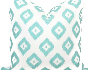 Quadrille Pillow Cover, China Seas Bali Diamond Turquoise Pillow Cover 18x18, 20x20 , 22x22, Eurosham or Lumbar pillow, Throw, Toss Pillow