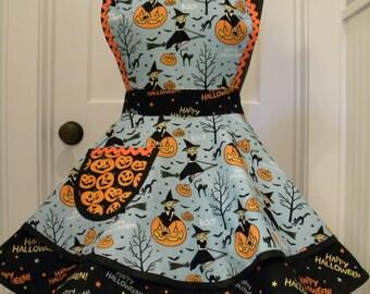Womens Apron-Hocus Pocus Halloween Flounce Apron