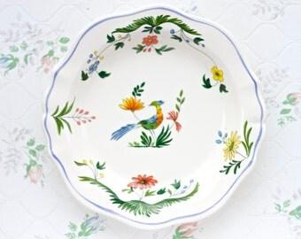Oiseaux de Paradis - Gien Porcelain Small Trinket Dish - Ring Holder - Made in France