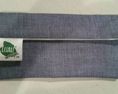 Blue Weave Organic Cotton Lunch Snack Bag Moisture proof, Reusable, Washable- SMALL 7.5 x 3 in