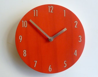 Objectify Red Shade Wall Clock