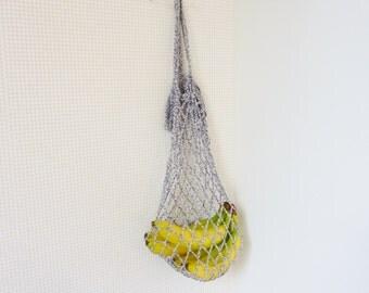 Netted market bag crochet grocery bag