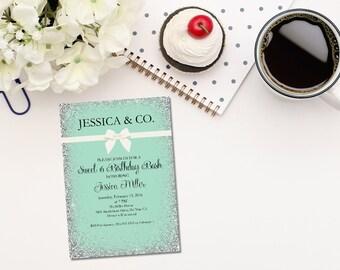 Printable sweet 16 birthday invitation/16th birthday invitation/friends and co birthday invitation/printable birthday invitation/quinceanera