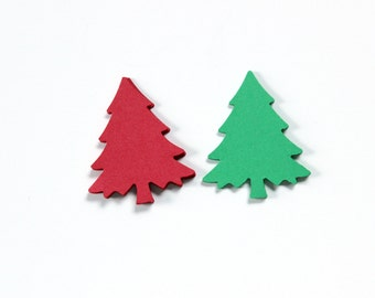 Red Green Christmas Tree, Christmas Decoration, Card Making, Scrapbook Supplies, Holiday