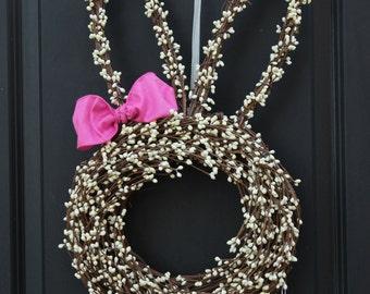 Easter Wreath - Bunny Wreath - Spring Wreath - Rabbit Wreath - Easter Door Decor-