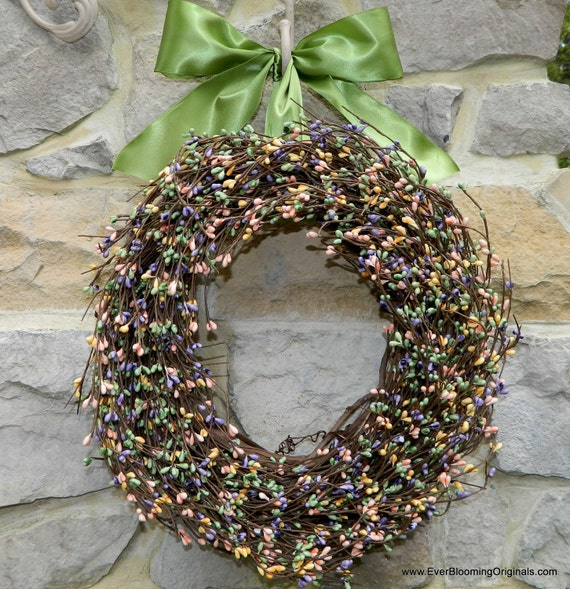 Outdoor Wreath - Multi Wreath - Spring Wreath