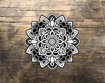 mandala tattoo etsy fr. Black Bedroom Furniture Sets. Home Design Ideas