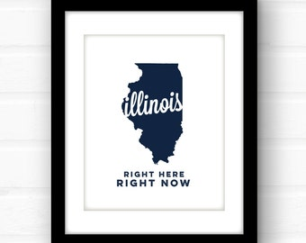 Illinois wall art | Illinois home | Illinois art | Chicago, Illinois art | Illinois print | Springfield Illinois art | state song lyric art