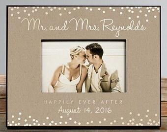 Personalized Mr. and Mrs. Wedding Frame, personalized wedding frame, wedding picture frame, wedding gift, wedding shower -gfy4104380