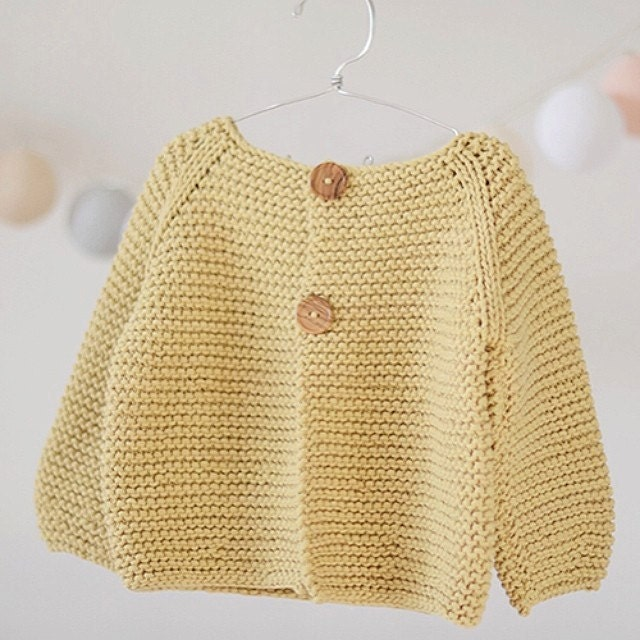 KNITTING PATTERN Basic Cardigan for Childrens and Babies