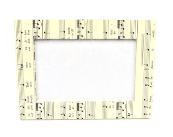 Vintage Sheet Music Covered Free Standing Photo Frame 4x6 inch Photos Picture Frame Music Lover