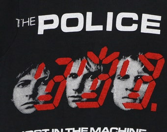 Police Ghost In The Machine Tour Shirt 1982 Vintage Tshirt Concert Rock S 1980s