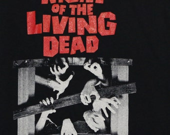 Night Of The Living Dead Movie Shirt 1980s Vintage Tshirt Zombies Original S 80s