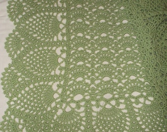 Crocheted Green Baby Afghan (bk109)