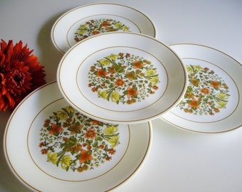 Vintage Corelle, Indian Summer, Lunch Plates, Set of 4, 8.5 inches