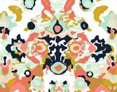 Crib Blanket Coral Jubilee - Crib Blanket - Baby Blanket - Minky Blanket - Coral Baby Blanket - Floral Baby Blanket - Coral Crib Bedding