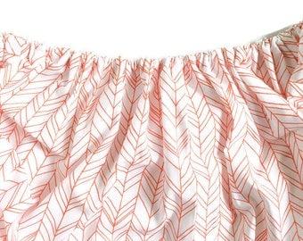 Fitted Crib Sheet Orange Herringbone - Orange Crib Sheet - Herringbone Crib Sheet - Chevron Crib Sheet - Baby Bedding - Orange Crib Bedding