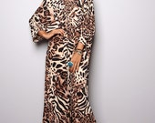 Boho Dress - Animal Print Maxi Dress : Funky Elegant Collection No.11