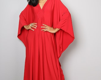 Red Maxi Dress - Kimono Butterfly Maxi Dress : Funky Elegant Collection No.1