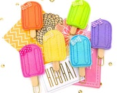 Popsicle Planner Clips - Colorful Felt Summer Planner Paper Clip. Bookmarks Magnets Small Party Favor Gifts. Felt Magnet Novelty Gifts.