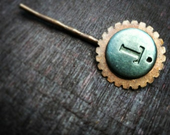 "Steampunk Letter ""T"" Clip"