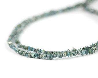 Diamond Rough Beads Conflict Free Blue Natural Chip Beads Precious Gemstone April Birthstone