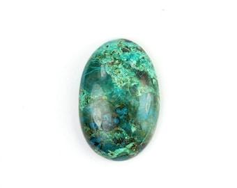 Valentines Sale Chrysocolla Oval Cabochon Large Green Blue Semi Precious Gemstone