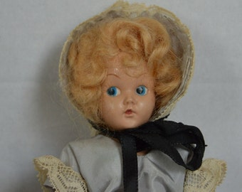 Duchess Doll Corp Vintage Doll 1948 Blue Dress