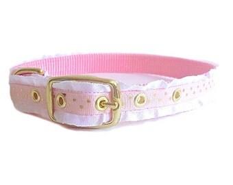 Valentines Day Dog Collar, Super girly dog collar