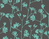 Landscape - Kangaroo Paw Turquoise by Ink & Spindle from Cloud 9 Fabrics
