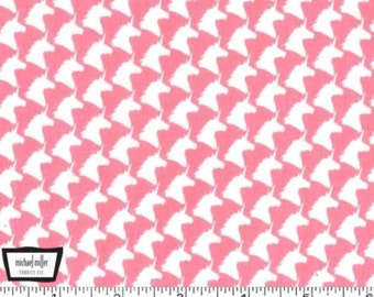 Unicorn Houndstooth - Pink from Michael Miller