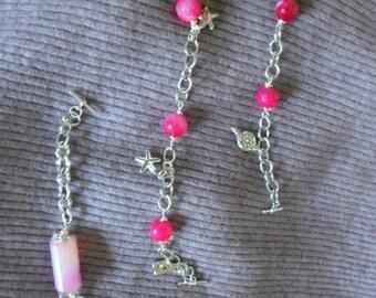 Customized Bracelets W Asst Charms n Gems
