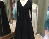 RESERVED for SKOKOFIVE - custom Faux Wrap Long Sleeved Ballgown Maxi in Matte Jersey