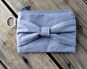 Bow Zipper Coin Purse / Coin Pouch