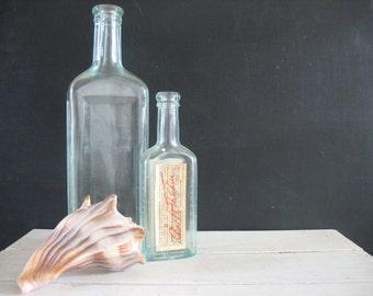 Vintage Aqua Medicine Bottles - 2