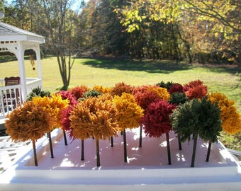 Weddings/ FALL & AUTUMN TREES / Doll Houses, Party Table Favors, Model Railroad, Scenery Landcaping