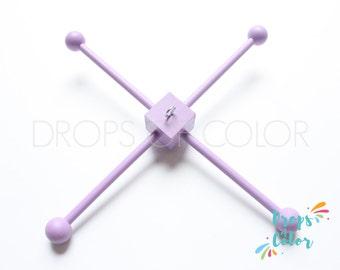 Wood Frame Mobile, DIY Mobile, Painted Wood Frame, Mobile Hanger, Lavender Purple Color, Wood Mobile Frame with Hook for easier hanging