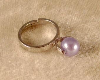 Lavender Pearl Ring