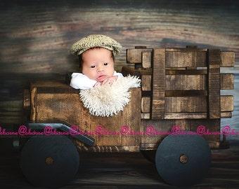 Donegal Cap - Irish Cap - Driver cap - Newborn Boy Photo Prop - Donegal Cap - Baby Boy Photo Prop - golfer cap - crochet hat