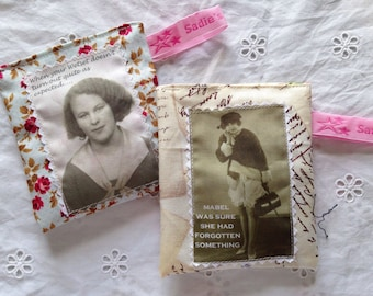 Lavender Bags - Vintage & Retro Ladies - Humour/Carry on Sewing. Set of two