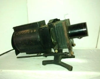 Antique Industrial , Keystone Magic Lantern Slide Projector , Viewer
