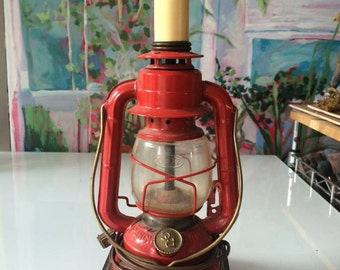 Vintage Rustic Antique Lantern Lamp