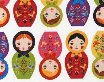 One Yard Suzy Ultman Robert Kaufman Little Kukla Dolls in Bright