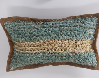 Stranded-Ocean stripe pillow OOAK-2