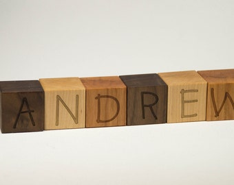 Personalized Wood Name Blocks, Custom Letter Blocks, Personalized Blocks, Alphabet Blocks, Wooden Toy, Nursery Decor