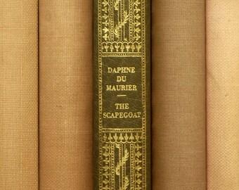 Daphne du Maurier faux leather bound book The Scapegoat vintage book