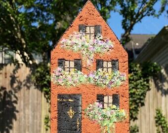 Brick Townhouse Bookend, Doorstop